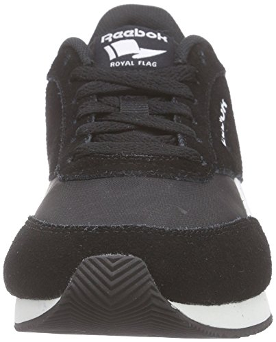 Reebok Royal CL Jogger 2, Zapatillas de Running Niños, Negro/Blanco/Gris (Black/White/Baseball Grey), 34