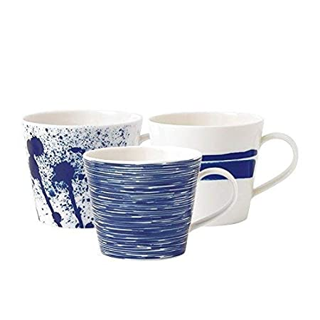 Royal Doulton Pacific Accent Mugs Set of 6 Blue