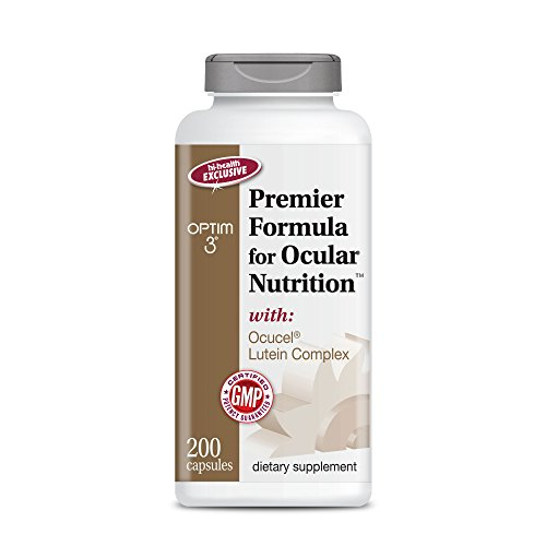 Optim 3 Premier Formula for Ocular Nutrition, The Original Paul Harvey Eye Formula (200 caps) - Harvey Light