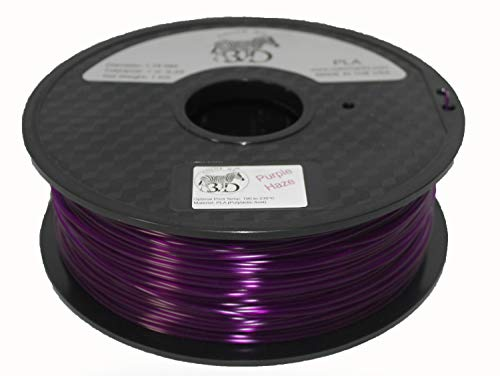 COLORME3D Quality 3D Printer Filament Purple Haze PLA-1KG (2.2 LBS) Made in The USA 1.75 mm +/- 0.05 mm Accuracy-Purple Haze PLA by Color Me 3D
