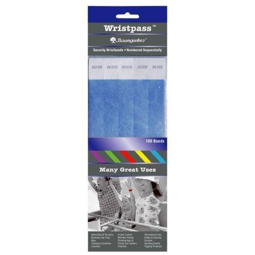 Baumgartens Wristpass Dupont Tyvek Security Wrist Band - 10