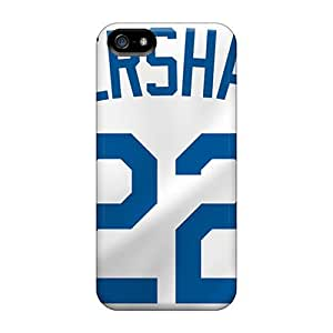 Iphone 5/5s Use8492OAfy Customized Beautiful Los Angeles Dodgers Pattern Scratch Resistant Hard Phone Covers -JasonPelletier hjbrhga1544