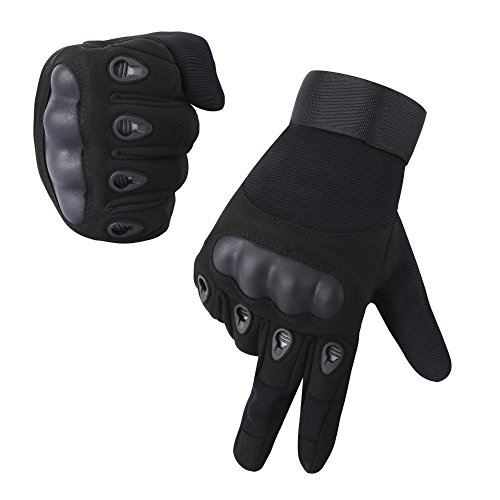 Cycorld Tactical Gloves, Motorcycle Riding Gloves, Military Rubber Hard Knuckle Full Finger Gloves Outdoor Training, Airsoft, Paintball, Cycling, Shooting, Hunting