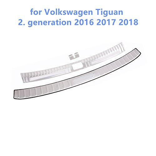 per Tiguan Seconda generazione 2016 2017 2018 Acciaio inossidabile esterno + interno posteriore Sill bumper piastra di copertura 3pcs YUZHONGTIAN Auto Trims Co. Ltd