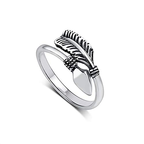 8Ninegift 100% 925 Sterling Silver Rings for Women Cupid Arrow Design Vintage Thai Silver Jewelry Open Ring for Lover Best Gifts