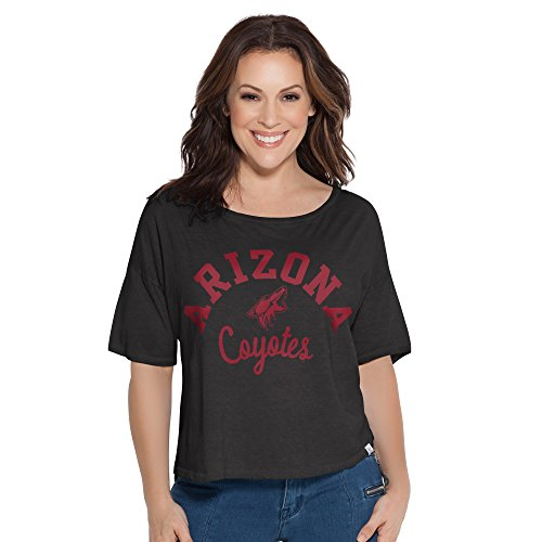 NHL Phoenix Coyotes Adult Women Touch S Base Reversible Tee,Large,Black