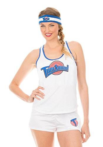 Space Jam Tune Squad Women's Tank and Shorts Costume - L -