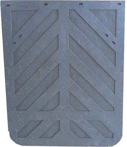1//4 Chevron 24 x 24 Heavy Duty Rubber Pair Denco Black Mud Flaps
