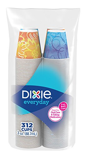 Dixie 3 Oz Patterned Bath Cups, 312 Count