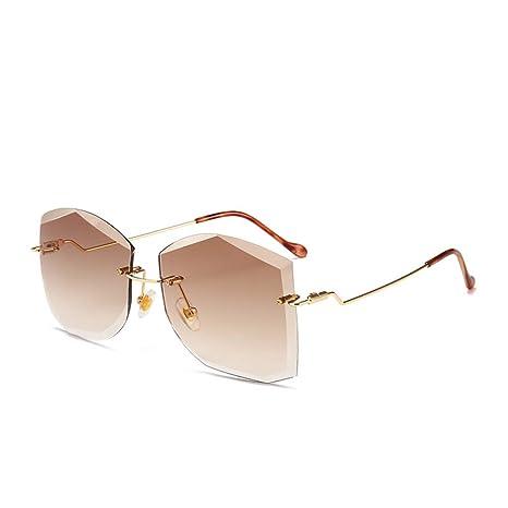 Yangjing-hl Año Gafas de Sol de Moda con Corte Poligonal ...