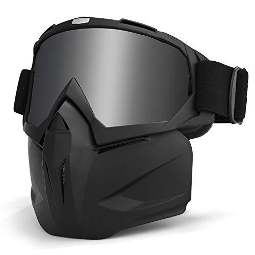 LAMEDA Motorrad Maske Brille Herren Motorrad Goggle Gesichtsmaske Schutzmaske männer Schutzbrille Skibrille Für Motorrad…