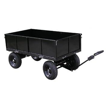Remorque - plateau 400 kg 4 roues en acier peint pour Tracteur ...