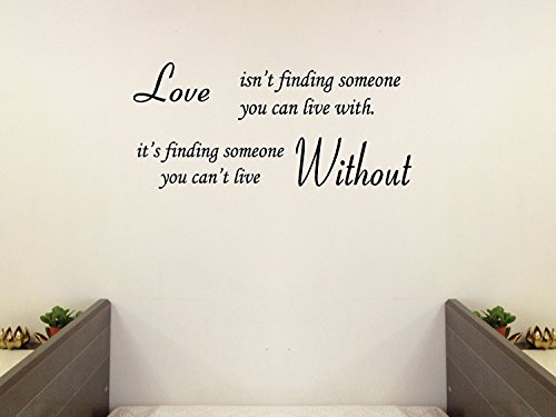 Wall Sticker Decal Mural Self Adhesive Paper Art Deco Love Without Quote Sticker