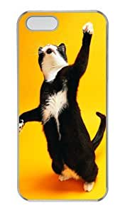 Cats boss PC Transparent silicone iphone 5S case for Apple iPhone 5/5S