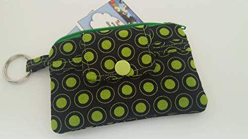 Amazon.com: Zipper Mini Wallet Pouch Key Chain Fabric Card ...