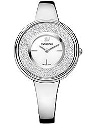 Ladies Swarovski Crystalline Pure Silver Tone Watch 5269256