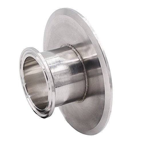 DERNORD Sanitary Concentric Reducer Tri Clamp Clover Stainless Steel 304 Sanitary Fitting End Cap Reducer (Tri Clamp Size: 4 inch x 2 inch)