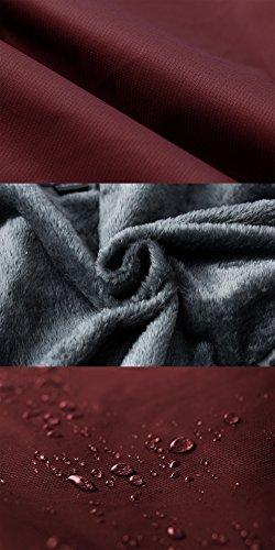Cappuccio Antivento Donna Sci Vino Pile da Wantdo in Rosso Giacca Impermeabile qPwT760Xx