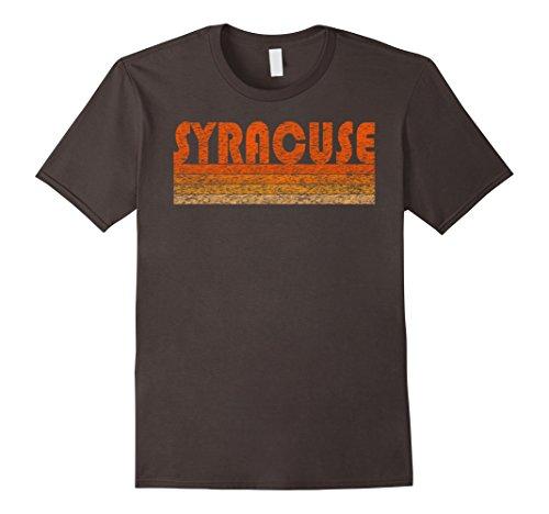 Mens Vintage Retro Syracuse T Shirt Large Asphalt