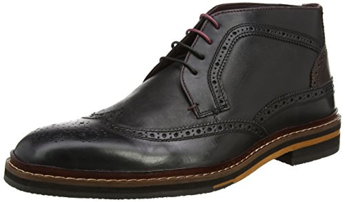 Ted Baker Mens Black/Dark Brown Cinika Brogue Boots-UK - Stockist Ted Baker