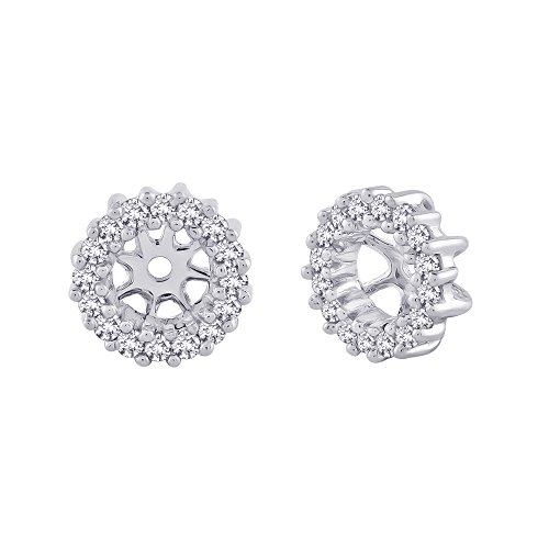 Diamond Earring Jackets in 14K White Gold (1/4 cttw, Color GH, Clarity I1-I2) by KATARINA