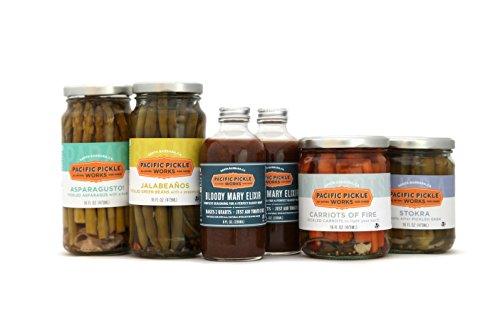 Mighty Bold Bloody Mary Deluxe Kit (6 pc) - Bloody Mary mix with pickled green beans, pickled asparagus, pickled okra and pickled carrots