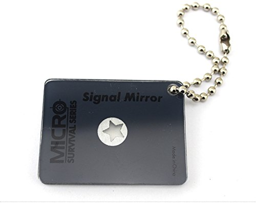 Lead Multi function signal mirror, outdoor EDC survival mirror signal tools