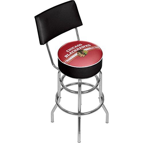 - Trademark Gameroom NHL Chicago Blackhawks Swivel Bar Stool with Back