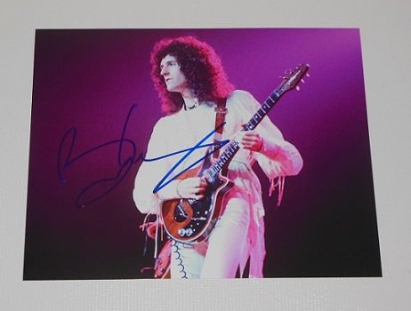 - Queen Live Magic Under Pressure Brian May Signed Autographed 8x10 Glossy Photo Loa