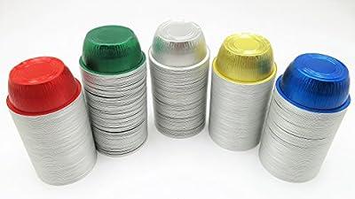 KitchenDance Disposable Aluminum 4 oz. Ramekins- Color & Lid Options