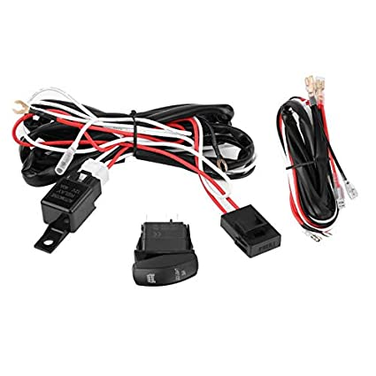 felix-box - new auto on off fog light bar switch control wiring harness  relay kit 12 24v - - amazon com