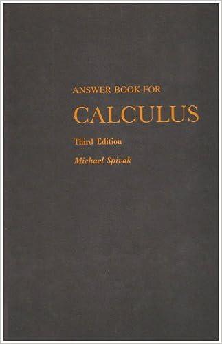 lagu calculus spivak answer book for