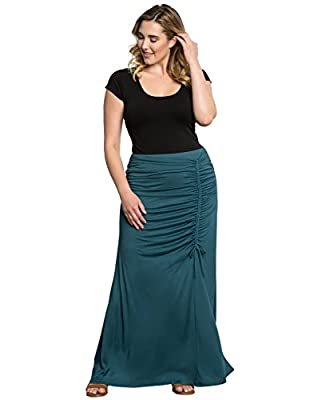 Kiyonna Women's Plus Size Mermaid Maxi Skirt