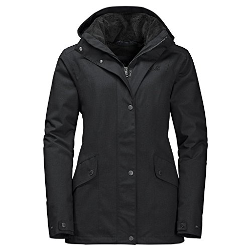 Jack Wolfskin Women's Park Avenue Jacket, Black, Large - Park Avenue Coat