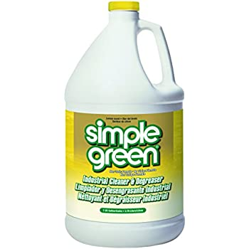 Simple Green 14010 Industrial Cleaner & Degreaser, Concentrated, Lemon, 1 gal Bottle