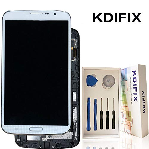 KDIFIX for Samsung Galaxy Mega 6.3 i9200 i9205 I527 L600 LCD Touch Screen Assembly with Frame and Full Professional Repair Tools kit (White+Frame)