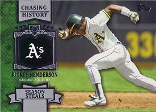 - 2013 Topps Chasing History #CH-58 Rickey Henderson Athletics MLB Baseball Card NM-MT