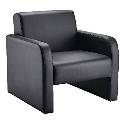 Incredible Arista Reception Chair Flat Pack Leather Look Black Kf72153 Machost Co Dining Chair Design Ideas Machostcouk