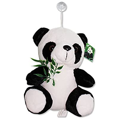 "7"" Panda Eating Bamboo Stuffed Plush Wall Window Hanging Animal Toy Birthday Gift (B11636)~We Pay Your Sales Tax: Toys & Games"