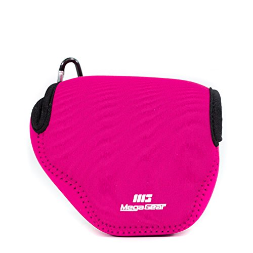MegaGear ''Ultra Light'' Neoprene Camera Case Bag with Carabiner for Canon PowerShot SX510, SX420 IS, SX410 IS, SX400 (Magenta)