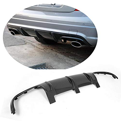 MCARCAR KIT Rear Diffuser fits Mercedes Benz C Class W204 C63 AMG Sedan Pre-facelift 2008-2011 Customized Real Carbon Fiber CF Lower Bumper Lip Spoiler Body Kit(Quad Exhaust Twin Outlet)
