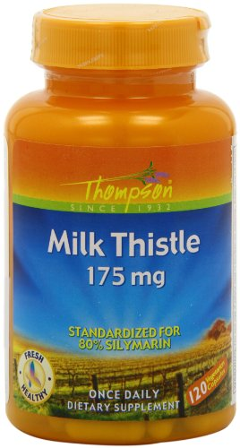 Thompson Milk Thistle Extract, Veg Capsules, 175 Mg, 120 Count