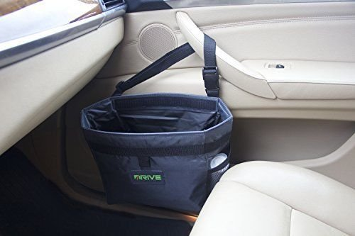 Drive Car Garbage Can Best Auto Trash Bag for Litter Free Basket Liners /Graphite Gray 16