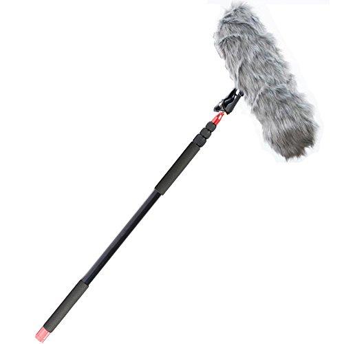 - Nicama 11.5 ft Professional Handheld Boom pole for Shotgun Microphones,Lightweight, Easy Twist Locks,Padded Handle