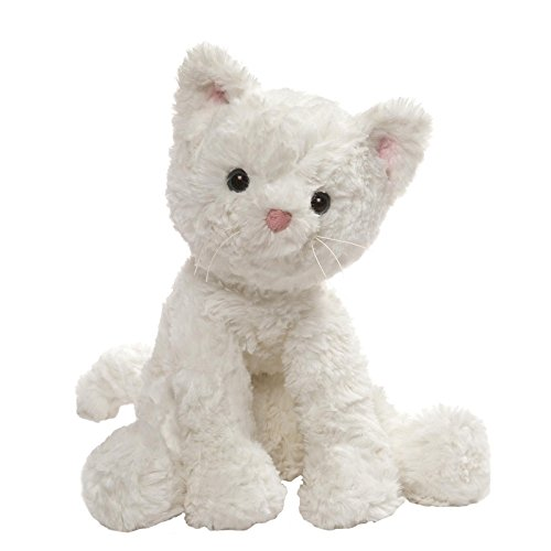 - GUND Cozys Collection Cat Stuffed Animal Plush, White, 8