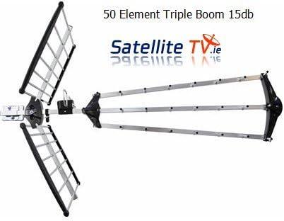 Tres de cama tipo boom TV-antena - Elements{50} 15.5 db ...