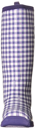 MuckBoots Women's Breezy Tall-W, Purple Gingham, 6 M US by Muck Boot (Image #4)
