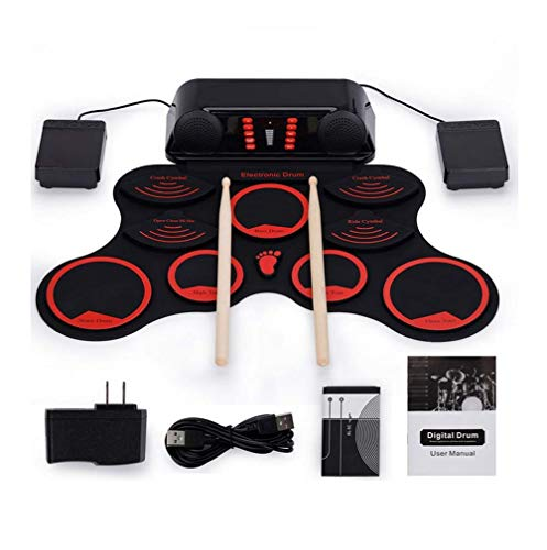 DUQI22 Roll Up Electronic Drum,Portable Electronic Drum,for Kids and Drum Beginner