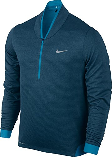 Nike Men's Dri-Fit TW Cypress Shield 1/2 Zip Golf Jacket, Blue, XL, 639817 496