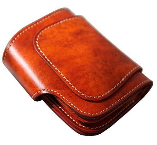 Style Brown Leather With Mens Wallet Coin Phonyeer Japanese Pocket Short Vintage Genuine P1IxBAwq5